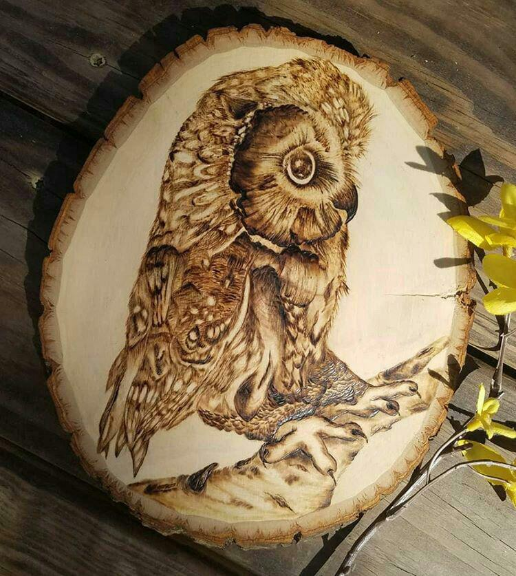 wood painting art
