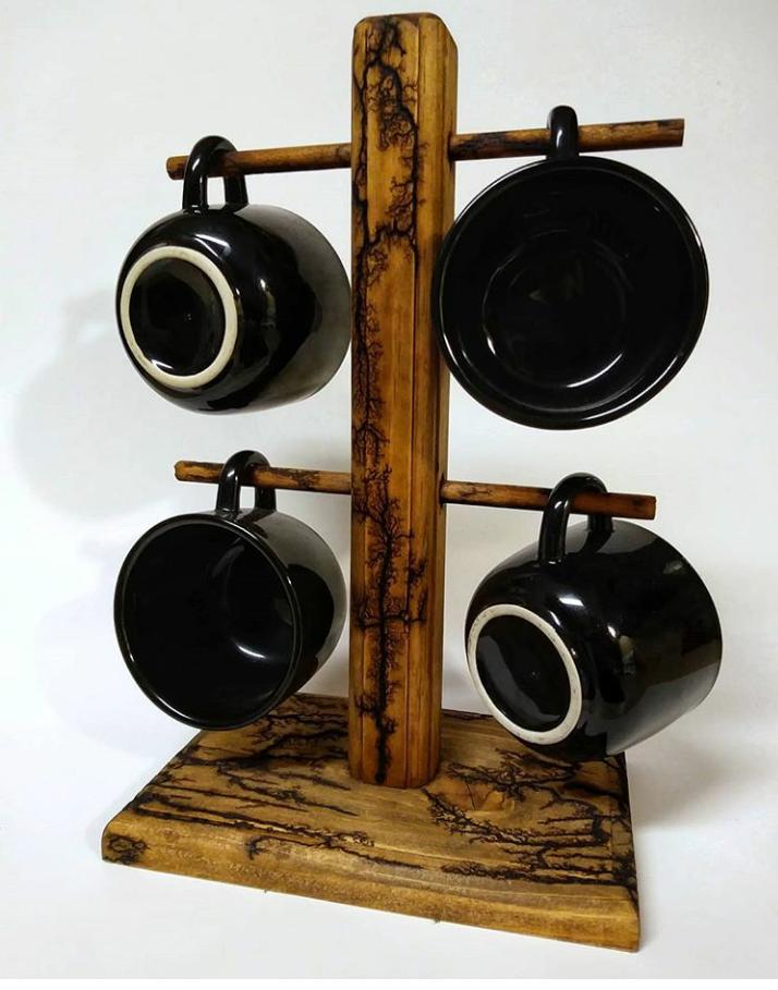 lichtenberg design on cup holder