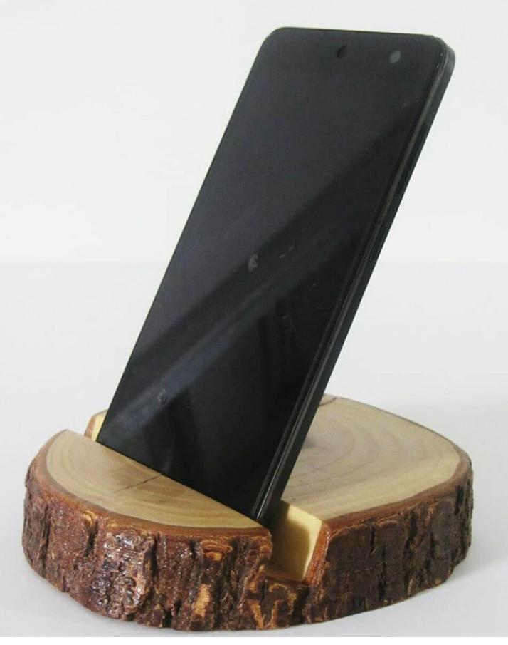 wooden mobile holder