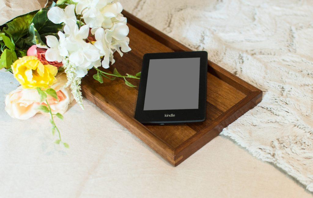 wooden tablet holder