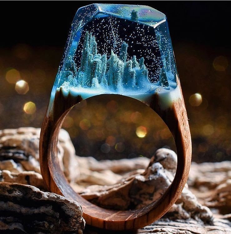wood resin jewelry