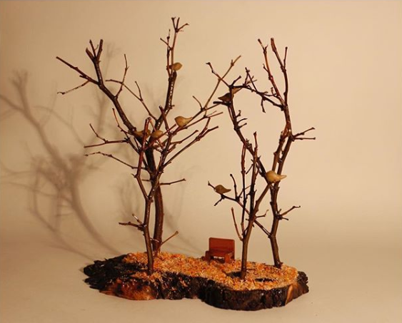 DCOR PROJECT MADE OF TREE BRANCH
