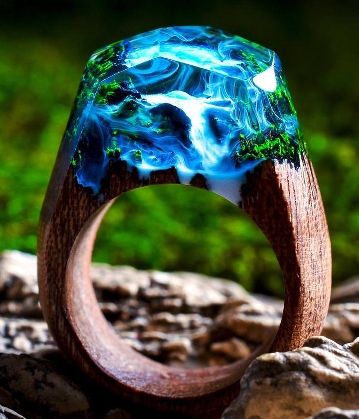 wood resin ring