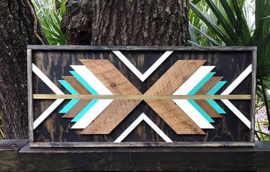 geometric wood art idea 10