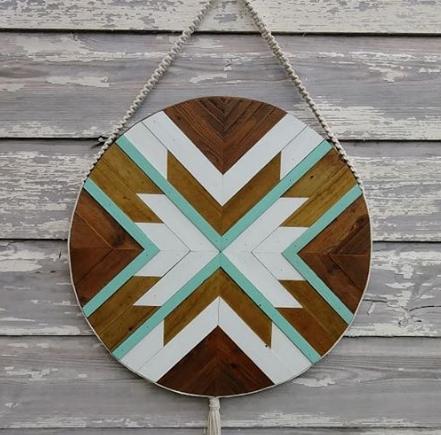 geometric wood art idea 11