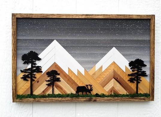 geometric wood art idea 2