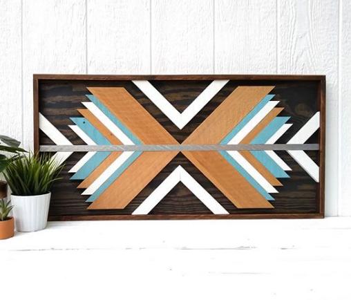 geometric wood art idea 5