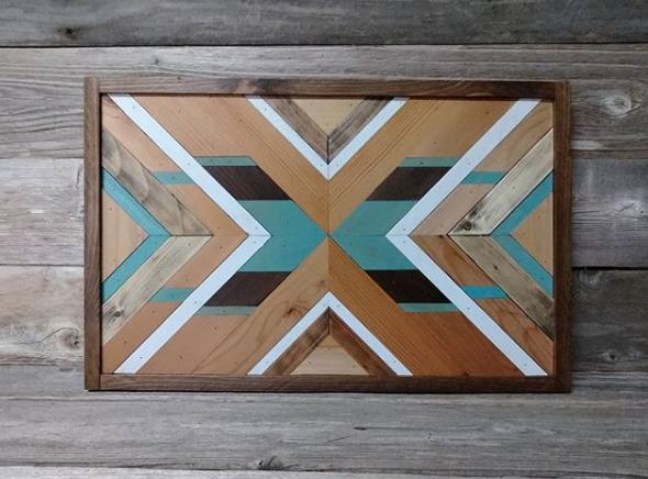 geometric wood art idea 8