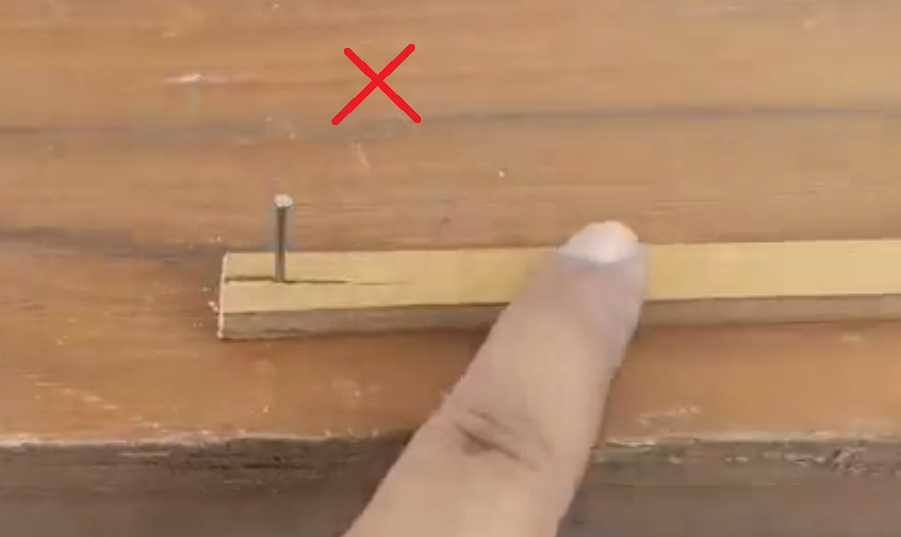 Driving a Nail Without Splitting the Wood