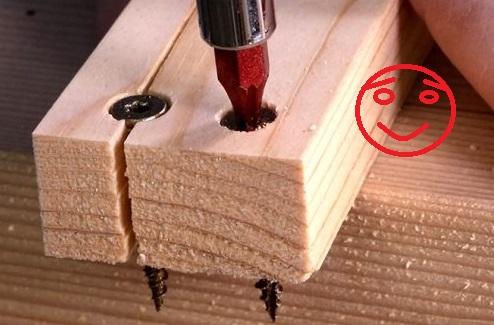 Splitting wood when driving screws