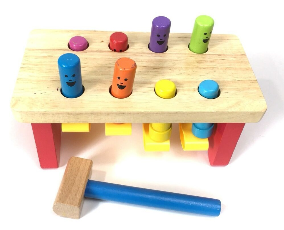 Pounding Wooden Bench toy