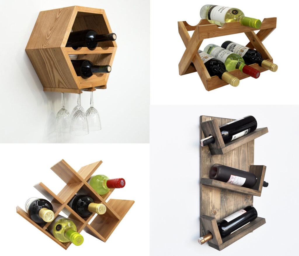 Modern wooden wine rack