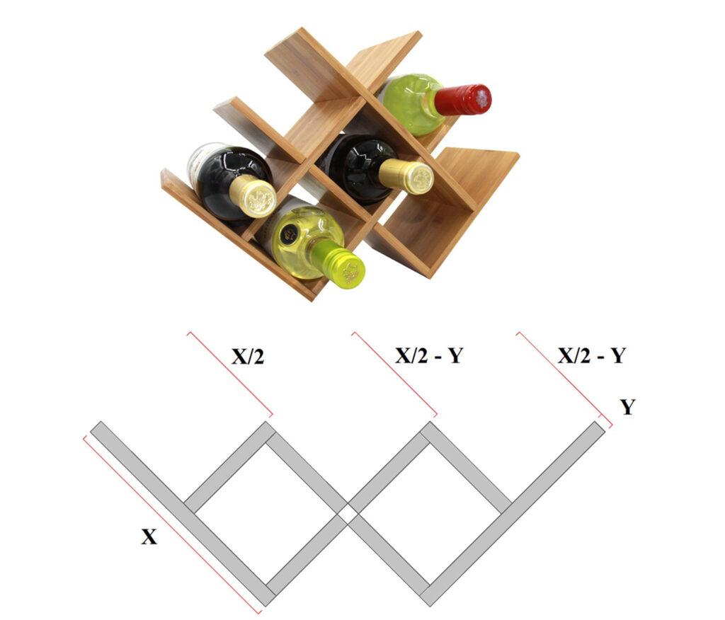 Modern wooden wine racks