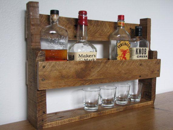 Reclaimed wood wine rack 1